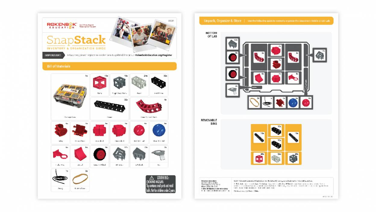 Image of SnapStack STEM kit inventory and organization guide